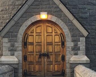 Dam house door