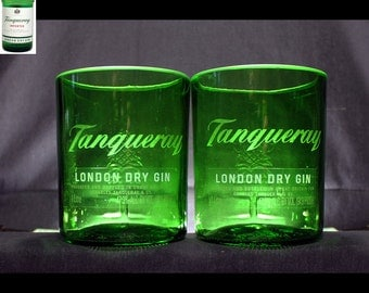 Tanqueray Gin Premium Rocks Glasses - Set of 2 (personalized), St. Patrick's gift, anniversary gift, groomsman gift, home bar, Personal gift