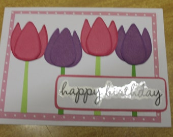 Tulips - Birthday Card