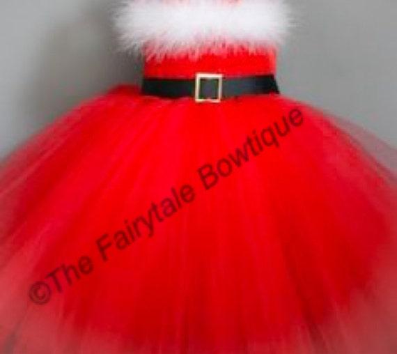 Mrs Claus Christmas Tutu Dress