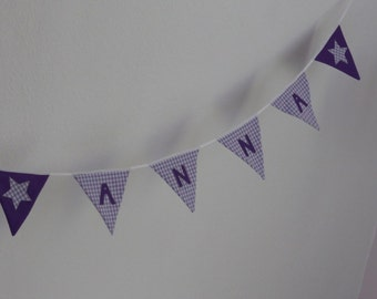 Pennant garland with name