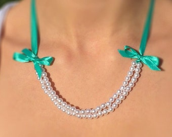 Pearl & Lace Bib Style Necklace
