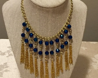 Blue Chandelier Necklace
