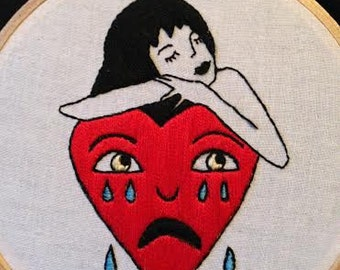 Crying Heart Embroidery