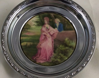 Vintage Royal Windsor Victorian Courting Couple Coaster