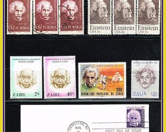 A Gaggle of Einstein - Lot of Albert Einstein Postage Stamps