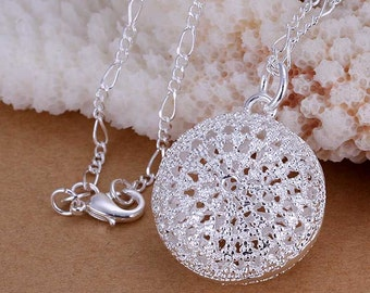 SS Round Bag Pendant Necklace