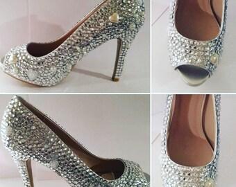 crystal diamante shoes
