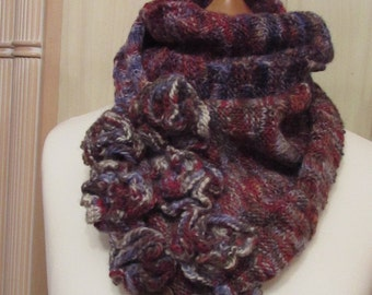 Hand Knitted Scarf A Walk in the Woods
