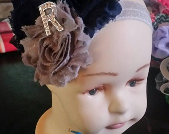 Navy and grey headband