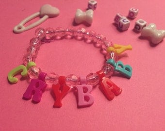 Call me crybaby charm bracelet