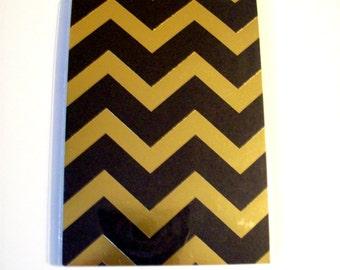 Gold Black Chevron Notepad New