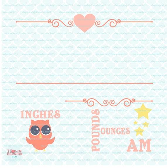 birth statistics announcement template owl theme birth