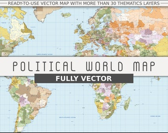 Political World Vector Map