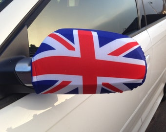 Union Jack Car Mirror Flag