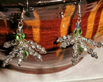 Sterling Silver 925 Stamped Christmas Iclecle Earring Dangles