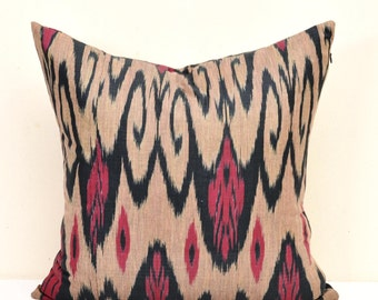 Throw Ikat Pillow, Ikat Pillows, Throw pillow, Ikat Pillow Cover, Ikat Cushion, Designer pillow, Decorative Pillow, Ikat Cushion Cover