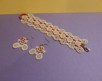 Macramé jewelry sets