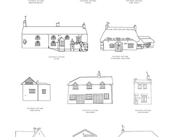 Personalised Home Illustration - A3 Print