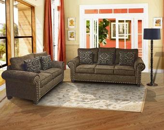 SALE!!!!!!  contemporary sofa loveseat set