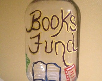 Books Fund Glass Jar