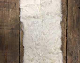 White rabbit fur