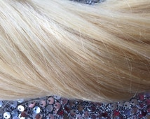 """Clip In Hair Extension 20"""" Platinum Blonde Color #613, High Quality Hair Extensions, Pure 100% Human Remy Hair"""