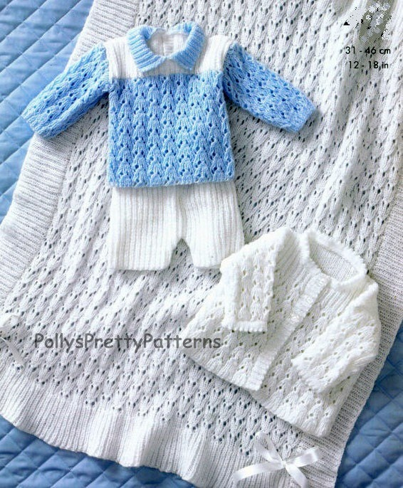 Knitting Pattern Cardigan For 18 Months : PDF Knitting Pattern for Matinee Jacket Shawl Sweater and