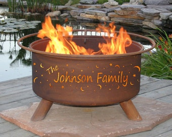 Engagement Gift Ideas - Personalized Wedding Gifts - Personalised Fire Pit - Wedding Present - Outdoor Customized Gift - Birthday Present