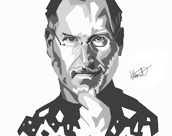 CANVAS Steve Jobs - iPad portrait