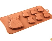 Taavi Cat Silicone Mold (for candies, chocolates, finger jello, ice cubes and more) (T-104)