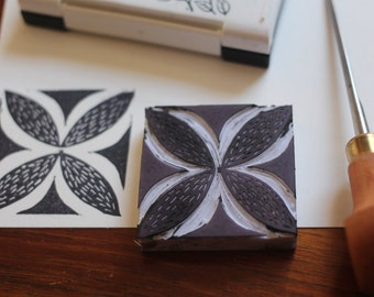Polynesian handmade rubber stamp