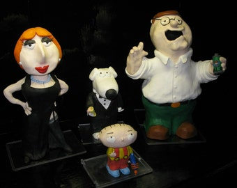 Family Guy Inspired Clay Sculptures