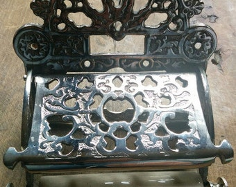 Nickel plated Victorian style toilet roll holder