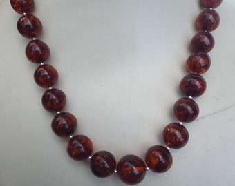 Natural Baltic amber necklace -52.8 grams