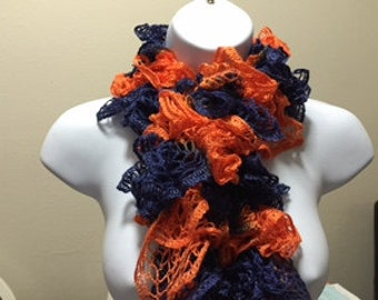 Blue and Orange Scarf #1045