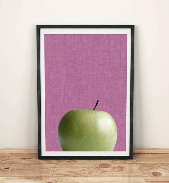Apple Kitchen Decor Cheap: Apple Wall Art Fruit Print Fruit Poster Green By