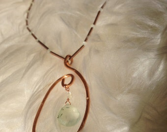 Copper and Prehnite Necklace