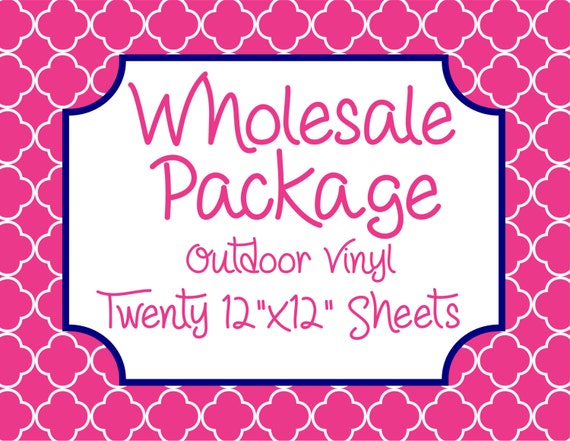 """Wholesale Package for Twenty 12""""x12"""" Outdoor Vinyl Sheets // Beautiful, Vibrant Patterns"""