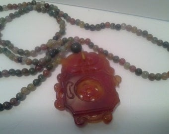 Chinese themed beaded necklace