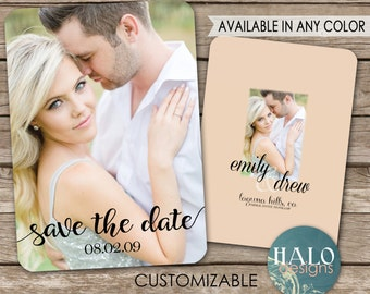 Classic Wedding Save the Date Card - printable postcard