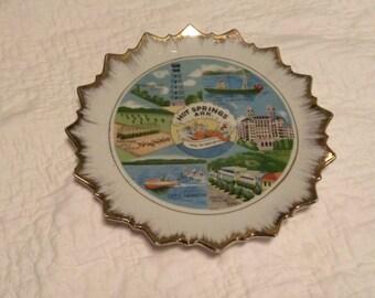 vintage HOT SPRINGS ARKANSAS souvenir plate