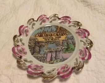 vintage CARLSBAD CAVERNS souvenir plate