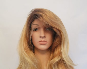 Synthetic Hand Tied Heat Resistant Lace Front Wig 3 Tone Blonde 22""
