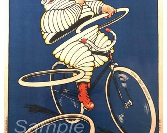 Vintage Michelin Tyres Advertising Poster Print