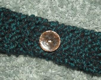 Knitted Headband - Chunky - Headband - Ear Warmer - Headband - Head Wrap - Blue - Seascape - Cold - Winter - Warm