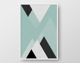 Scandinavian Poster, Abstract Print, Geometric Art, Minimal Triangle Poster, Modern Print, Nordic Print, Geometric Print, Nordic Poster