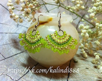 "Earrings Bead ""Spring"""
