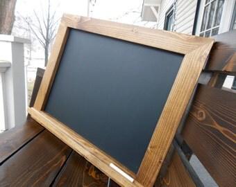 Wood Framed Chalkboard - Rustic Chalkboard - Kitchen Chalkboard - Menu Chalkboard - Large Chalkboard - Chalkboard With Ledge 18 x 24