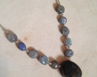 Magic Labradorite Beaded Necklace (Said to be the stone of Magic and Manifesting) b2